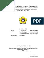 LAPORAN PRAKTIKUM EKOLOGI LAHAN BASAH (Kelompok 4)