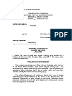 3 Judicial Affidavit Plaintiff Legal Forms