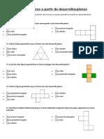 Cuerpos Geométricos a Partir de Desarrollos Planos