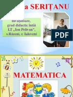 Matematica cl. 1, ZU+ZU, ZU-ZU ...