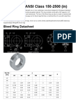 Bleed Ring - ANSI Class 150-2500 (in)