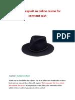 Exploit an online casino for constant cash.pdf