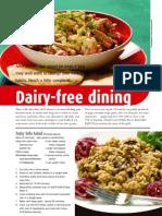 Dairy-free dining