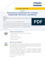 Matematica3 Semana 6 - Dia 1 Funciones Cuadraticas Ccesa007