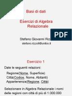 ES-1-EserciziAlgebraRelazionale