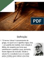 Aula 8 O Cânon Do Antigo Testamento