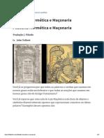 FILOSOFIA HERMETICA E MAÇONARIA