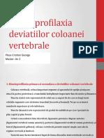 Kinetoprofilaxia deviatiilor coloanei vertebrale- PLESA CRISTIAN GEORGE- MASTER AN 2.pptx