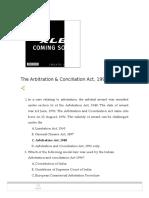 Arbitration MCQ Judiciary Exams
