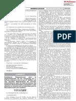 Decreto Supremo N° 015-2018-MINAM
