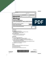 Biology Jun 2010 Actual Exam Paper Unit 2