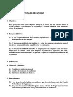 AUDITORIA DE SEGURANÇA modelo