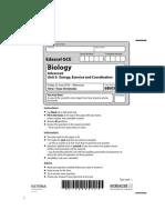 Biology Jun 2010 Actual Exam Paper Unit 5