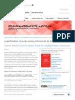 La performance_ el cuerpo como confluencia de los lenguajes artísticos _ Catálogo Digital de Publicaciones DC