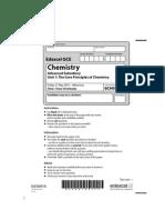 Chemistry Jun 2010 Actual Exam Paper Unit 1