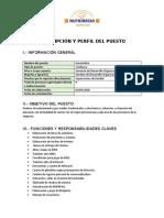 DESCRIPCIÓN Y PERFIL DEL PUESTO- GENERALISTA