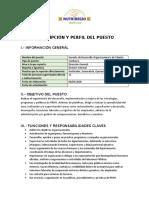 DESCRIPCIÓN Y PERFIL DEL PUESTO- Gerente RH