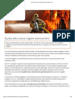 Guida alle nuove regole antincendio