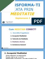Meditatie Online- Saptamana 2- Suport Curs