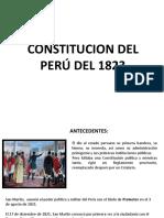 CONSTITUCION DEL PERÚ DEL 1823