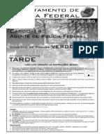 Prova para Polícia Federal - PF aplicada em 25 de Setembro de 2004 para o cargo de Agente de Polícia Federal - Prova Verde (Tarde).pdf
