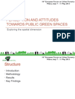 Perception and Attitudes towards Public Green Spaces