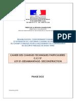 CCTP DCE Désamiantage-déconstruction