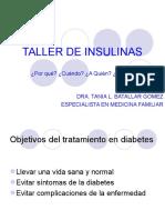TALLER DE INSULINAS
