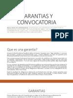 GARANTIAS Y CONVOCATORIAS EL SALVADOR