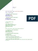 create database curso