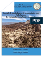 Geologia de Los Alrededores de La Qubrada Del Jume - La Rioja