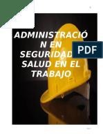 ADMINISTRACIÓN EN SEGURIDAD Y SALUD EN EL TRABAJO CARTILLA 2020