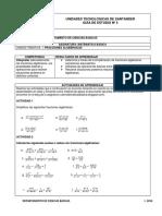 5. Fracciones Algebraicas