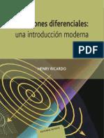 Ecuaciones Diferenciales Una Intro Moderna - Ricardo, Henry