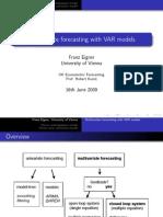 Forecasting and VAR models - Presentation