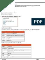 HTML5 - Référence des Balises (1)