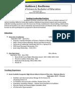 resume and leadership philosophy jordi roelfsema - 2020