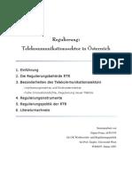 Regulierung - Telekommunikationssektor in Österreich