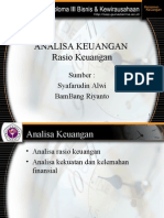 Analisa Ratio Keuangan