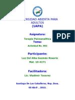 Tarea 02 Asingacion Luz. Terapia Psicoanalitica.docx