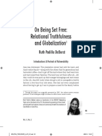 On Being Set Free- Relational Truthfulness and Globalization1 Ruth Padilla DeBorst