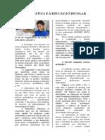 A INFORMÁTICA E A EDUCAÇÃO ESCOLAR - EXEMPLO DE TEXTO PARA ATIVIDADE 4