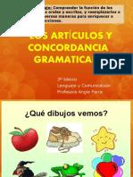 LOS ARTÍCULOS - 3º
