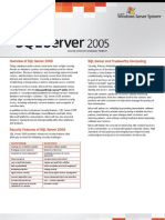 SQL Server 2005 Security Datasheet