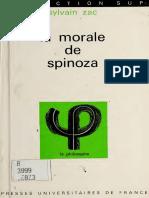 Sylvain Zac - La morale de Spinoza