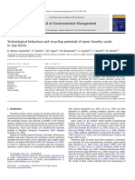 Technological behaviour and recycling potential of spent foundry sands in clay bricks