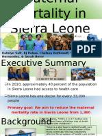 Maternal Mortality in Sierra Leone