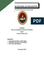 AUTO ADMISORIO DE ALIMENTOS