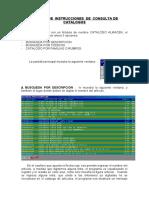 MANUAL  DE  INSTRUCCIONES  DE  CONSULTA DE CATALOGOS V1