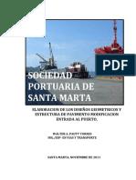 Informe Puerto de Santa Marta
